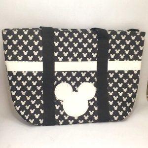DISNEY Mickey Mouse Nylon Zipper Tote Bag NWOT!